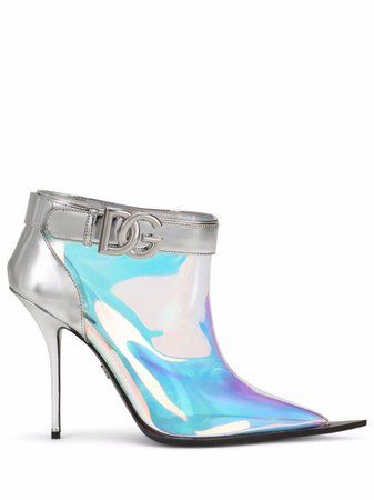 Dolce & Gabbana Holographic Ankle Boots - Farfetch