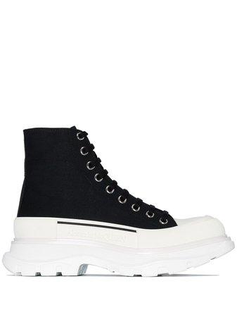 Alexander McQueen High Top Chunky Sneakers - Farfetch