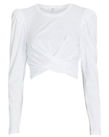 A.L.C. Mandy Wrap Cotton T-Shirt | INTERMIX®