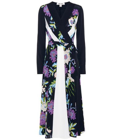Penelope printed silk dress