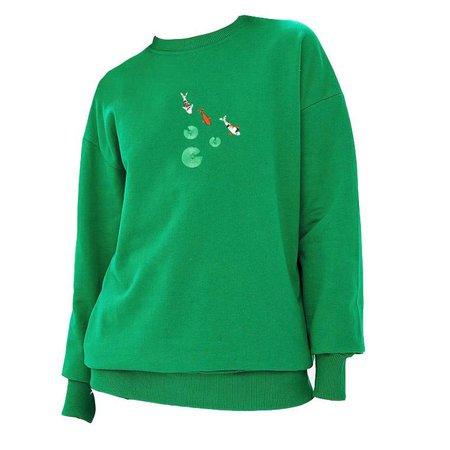 Koi Fish Embroidered Sweatshirt – Boogzel Apparel