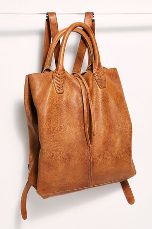 Crossroad Convertible Leather Backpack | Free People