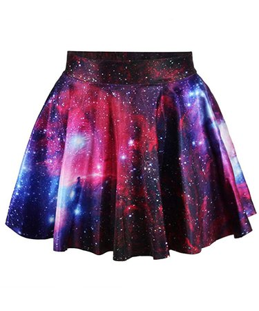 Amazon.com: Abby Berny Galaxy Skirt Purple High Waisted Skater Skirts Dress Stretchy Flared Pleated Mini Short Casual 3D Digital Print: Home & Kitchen