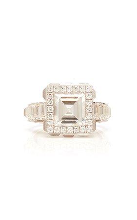 Martin Katz Carre and Baguette Diamond Ring