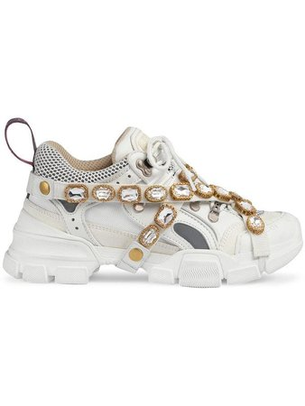 Gucci Flashtrek Sneakers With Removable Crystals - Farfetch