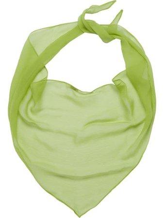 Miu Miu Basic Chiffon Scarf MCX278BRW Green   Farfetch