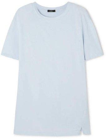 Organic Cotton-jersey T-shirt - Light blue
