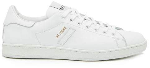 70s Tennis Leather Trainers - Womens - White