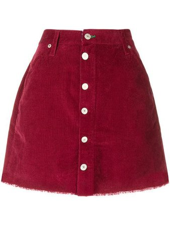 Tommy Jeans corduroy buttoned skirt