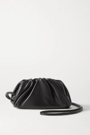 Black The Pouch mini gathered leather clutch   Bottega Veneta   NET-A-PORTER