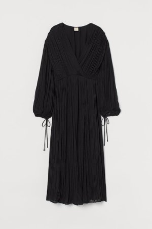 Pleated Dress - Black
