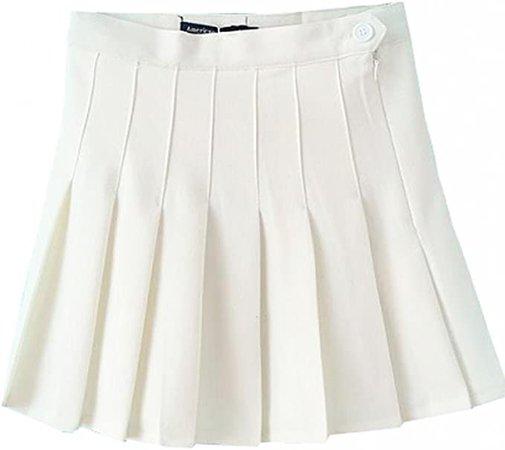 Amazon.com: Mixmax Women High Waist Pleated Mini Tennis Skirt (White, Medium): Clothing