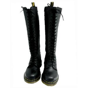 Black Doc Martens Knee High Boots