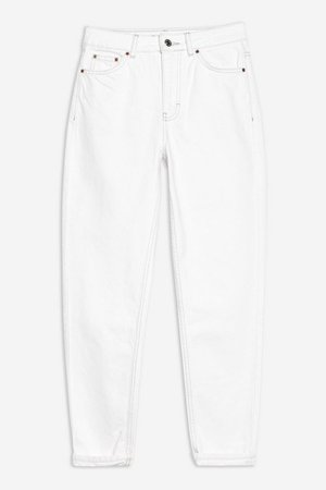 White Mom Tapered Jeans   Topshop