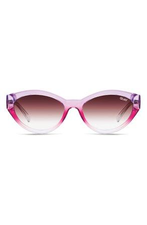 Quay Australia x Lizzo Totally Buggin 49mm Gradient Cat Eye Sunglasses | Nordstrom