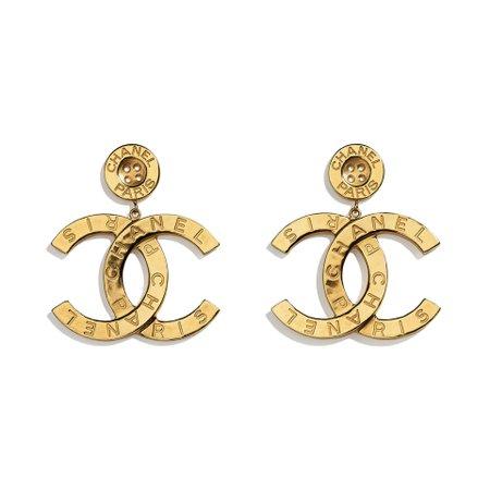Metal Gold Earrings | CHANEL
