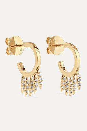 Gold Grass Clipping 18-karat gold diamond earrings | Ileana Makri | NET-A-PORTER