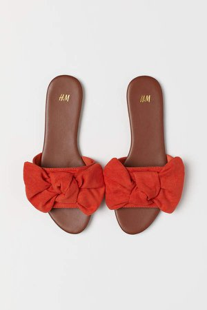 Sandals with Bow - Orange