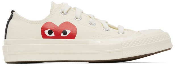 Off-White Converse Edition Half Heart Chuck 70 Low Sneakers