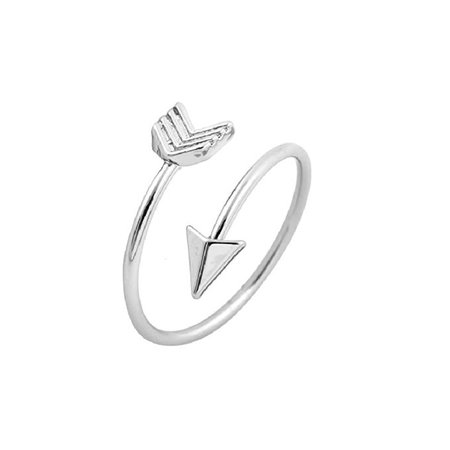 Amazon.com: Isola & Co Arrow Ring, Graduation Ring, Inspirational Ring, Travel Ring Toe Ring (silver-and-stainless-steel): Home & Kitchen