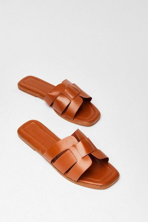 Link On Your Feet Faux Leather Sandals | Nasty Gal