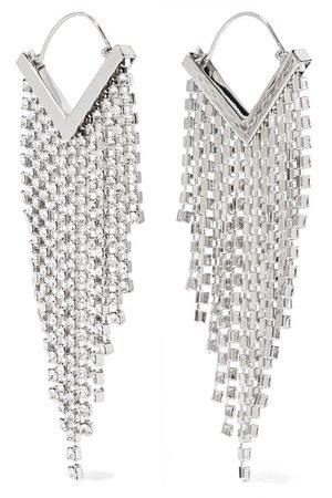 Isabel Marant | Silver-tone crystal earrings | NET-A-PORTER.COM