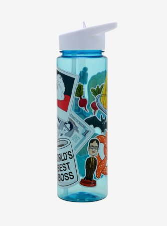 The Office Sticker Icons Water Bottle