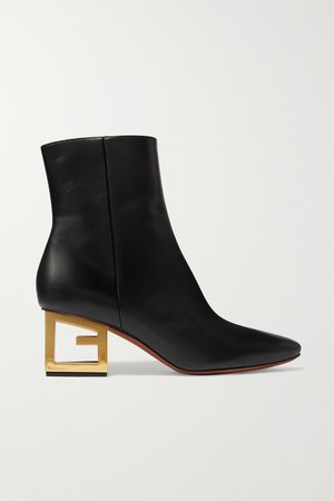 Black Leather ankle boots | Givenchy | NET-A-PORTER