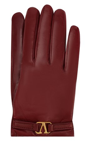 Женские бордовые кожаные перчатки valentino garavani VALENTINO — купить за 21550 руб. в интернет-магазине ЦУМ, арт. SW2GDA02/WJW