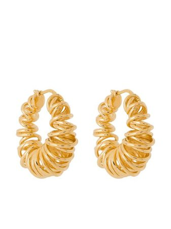 Bottega Veneta Spiral gold-plated Hoop Earrings
