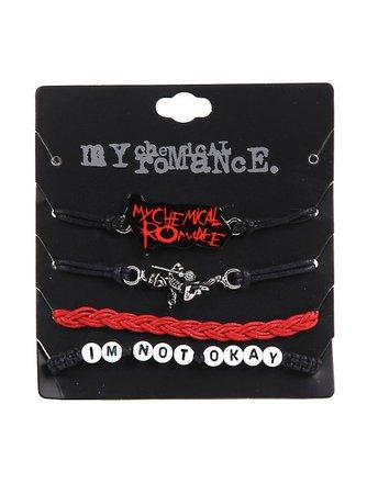 My Chemical Romance Cord Bracelet Set
