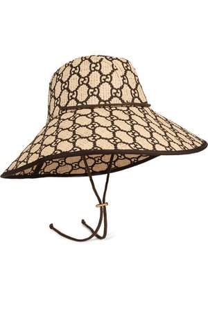 Gucci | Embroidered raffia hat | NET-A-PORTER.COM