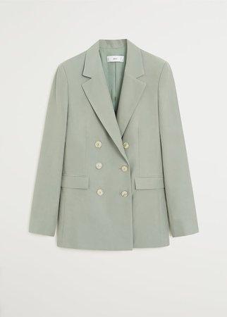 Double buttoned modal blazer - Women   Mango USA