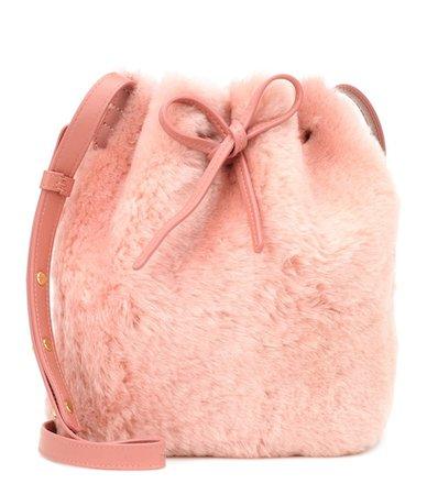 Mini Bucket shearling shoulder bag
