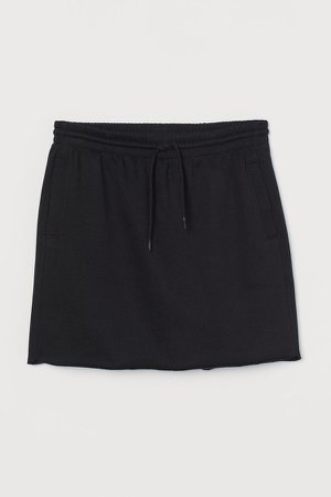 Short Sweatshirt Skirt - Black