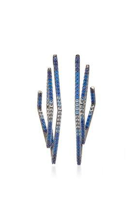 Lynn Ban Jewelry DOUBLE DIAMOND HOOPS