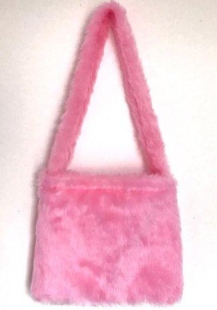 pink fluffy bag