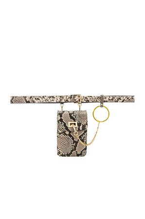 Ari Python Belt Bag