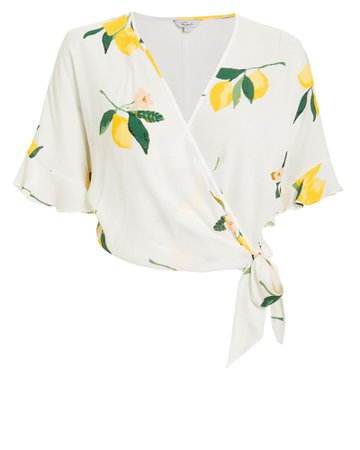 Athena Lemon Wrap Top