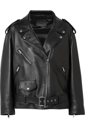 Prada | Leather biker jacket | NET-A-PORTER.COM