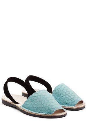 Embossed Suede Sandals Gr. IT 41