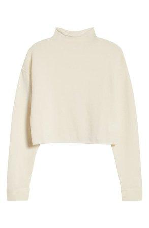 Reformation Cashmere & Wool Crop Roll Neck Sweater | Nordstrom