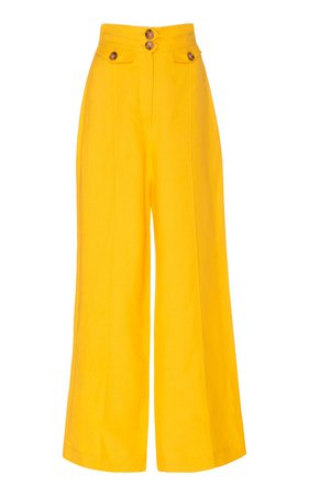 Dahlia Linen-Blend Wide-Leg Pants by Significant Other | Moda Operandi