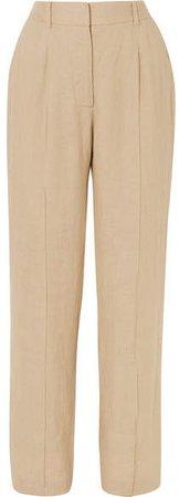 Nelia Linen Pants - Beige