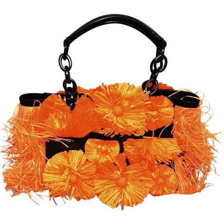 Blumarine Fancy Bag in Orange Raffia from 2012 Spring/Summer Collection For Sale at 1stdibs