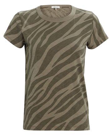 Rag & Bone | All Over Zebra Printed T-Shirt | INTERMIX®