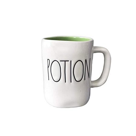 Amazon.com: Rae Dunn Large Letter LL Halloween Mugs 16 oz Coffee Mugs (POTION - GREEN INTERIOR): Kitchen & Dining