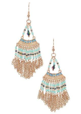 BEADED EARRINGS in Turquoise Multi | VENUS