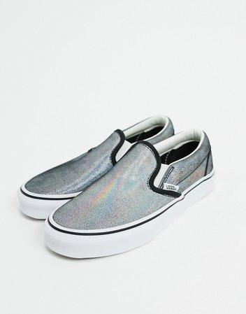Vans Slip-On Prism Suede sneakers in black/white | ASOS