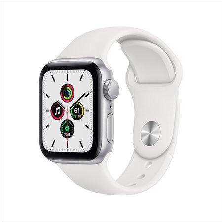 Apple Watch SE GPS, 40mm Silver Aluminum Case with White Sport Band - Regular - Walmart.com - Walmart.com